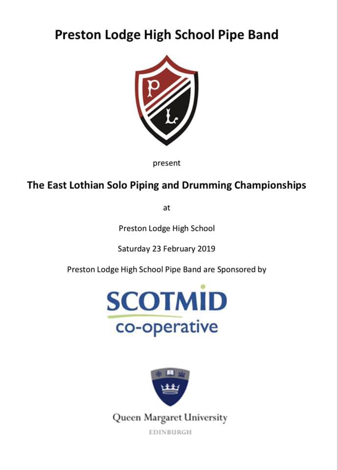 East Lothian Solo Piping and Drumming Championships 2019